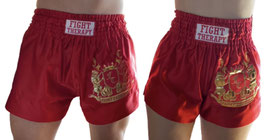 MuayThai-Shorts rot-gold