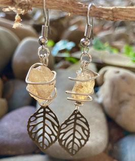 Goldtopas Ohrringe (Handmade)
