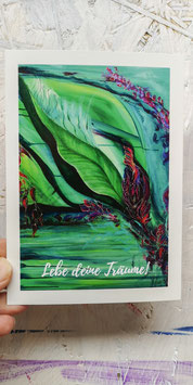 "Postkarte ""Lebe deine Träume"""