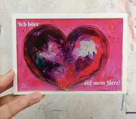 """Postkarte """"Ich höre auf mein Herz!"""""""