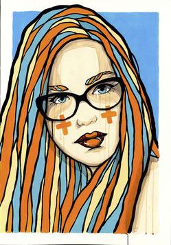 El Bocho - Blau mit Brille