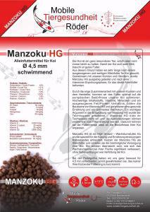 Manzoku HG, 9,5 kg Wachstumsfutter in 4,5 mm Pelletgröße