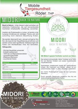 Mit Midori (5kg) spezial Koifutter zurück zur Natur