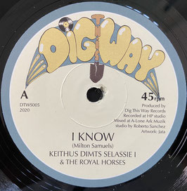 """KEITHUS DIMTS - I Know (Dig This Way 7"""")"""
