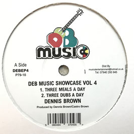 "DENNIS BROWN - Three Meals A Day (DEB Music 12"")"