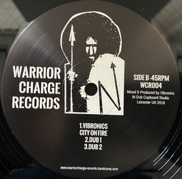 "VIBRONICS - City On Fire / ANJA G - Police Brutality (Warrior Charge 12"")"