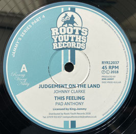 """JOHNNY CLARKE - Judgement On The Land (Roots Youths 12"""")"""