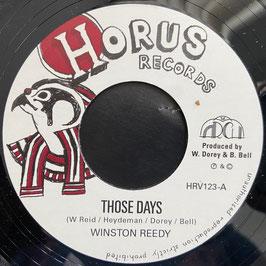 """WINSTON REEDY - Those Days (Horus 7"""")"""