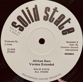 "CHESTER COKE & RANKING SPANNER - African Race (Solid State 12"")"