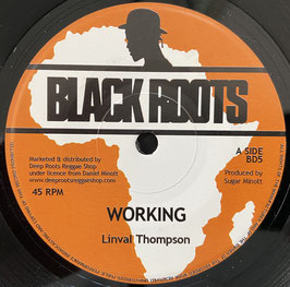 """LINVAL THOMPSON - Working (Black Roots 7"""")"""