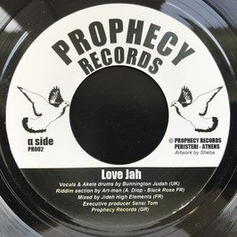 "BUNNINGTON JUDAH - Love Jah (Prophecy 7"")"