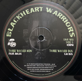 "FIKIR AMLAK - One Africa / Three Wicked Men (Blackheart Warrior 10"")"