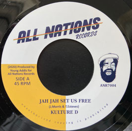 "KULTURE D, HIGHER MEDITATION - Jah Jah Set Us Free (All Nations  7"")"