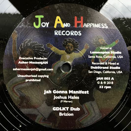 "JOSHUA HALES - Jah Gonna Manifest (Joy And Happiness 12"")"