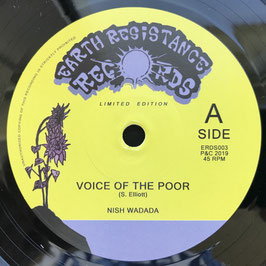 """NISH WADADA - Voice Of The Poor (Earth Resistance 7"""")"""