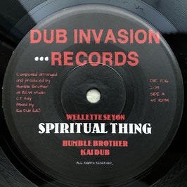 "WELLETTE SEYON - Spiritual Thing (Dub Invasion 7"")"