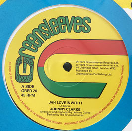 "JOHNNY CLARKE - Jah Love Is With I / Bad Days Are Going (Greensleeves 12"")"