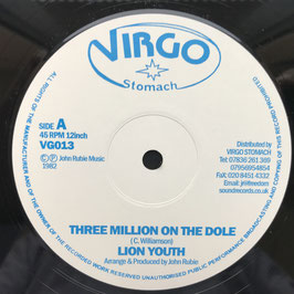 "LION YOUTH - Three Million On The Dole (Virgo Stomach 12"")"