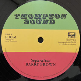 "BARRY BROWN, SCIENTIST - Seperation (Thompson Sound 12"")"