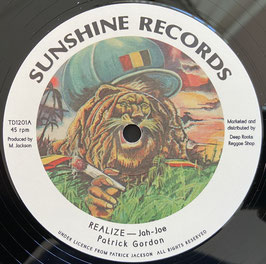 "PATRICK GORDON - Realize (Sunshine 12"")"