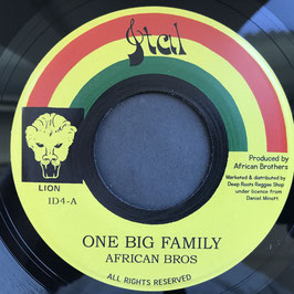 "AFRICAN BROTHERS - One Big Family (Ital 7"")"