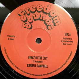 "CORNELL CAMPBELL - Peace In The City (Freedom Sounds 12"")"