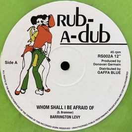 "BARRINGTON LEVY - Whom Shall I Be Afraid Of (Rub-A-Dub 12"")"