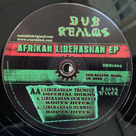"Afrikan Liberashan ft ISHA BEL, PRINCE LIVIJAH, COS TAFARI (Dub Realms 12"")"