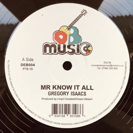 "GREGORY ISAACS - Mr Know It All (DEB Music 12"")"