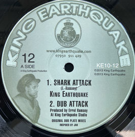 "KING EARTHQUAKE - Shark Attack / Torture The Devil (King Earthquake 10"")"