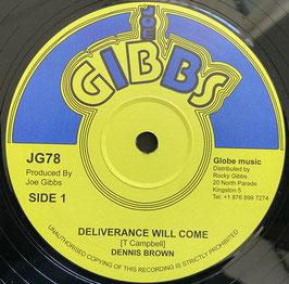 "DENNIS BROWN - Deliverance Will Come (Joe Gibbs 12"")"
