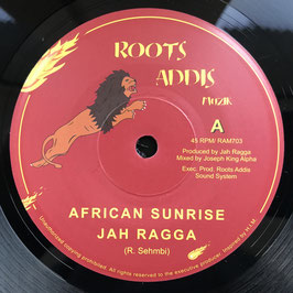 "JAH RAGGA - African Sunrise (Roots Addis 7"")"
