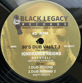 "NAPHTALI - Ignorance Reigns (Black Legacy 10"")"