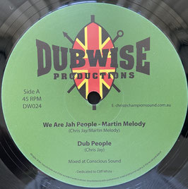 """MARTIN MELODY - We Are Jah People / MIKE TURNER - Can't Stop (Dubwise 12"""")"""
