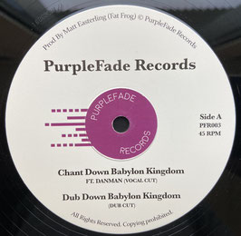 "DANMAN, ADDIS PABLO, RAS DIVARIUS - Chant Down Babylon (PurpleFade 12"")"