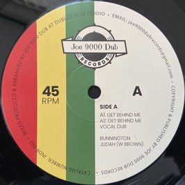 "BUNNINGTON JUDAH - Get Behind Me (Joe 9000 Dub 10"")"