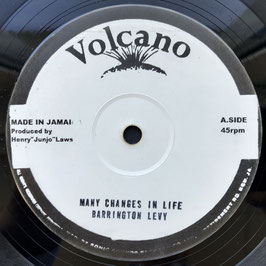 "BARRINGTON LEVY - Many Changes In Life (Volcano 10"")"