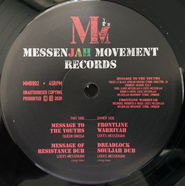 "QUEEN OMEGA - Message To The Youths / LOCKS M'JAH - Frontline Warriyah (MMR 12"")"