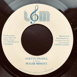 "SUGAR MINOTT - Ghetto People (L&M 7"")"