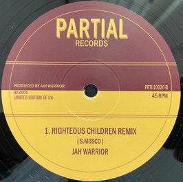 "JAH WARRIOR - Righteous Children (Partial 10"")"