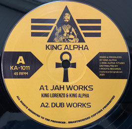"KING LORENZO - Jah Works / KING ALPHA - Amlak Dub (King Alpha 10"")"