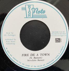 """NOVELETTE BARNETT - Fire De A Town (High Town 7"""")"""