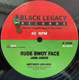 "JOHN JUNIOR - Rude Bwoy Face (Black Legacy 10"")"
