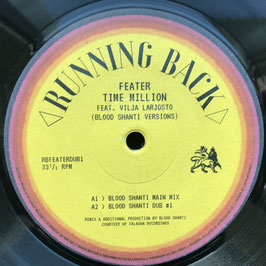 "BLOOD SHANTI - Feater's Time Million Versions (Running Back 10"")"
