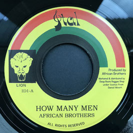 """AFRICAN BROTHERS - How Many Men (Ital 7"""")"""