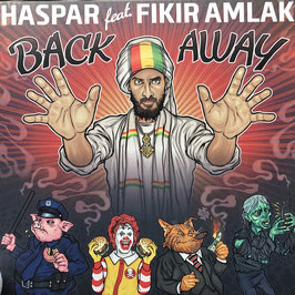 "HASPAR ft. FIKIR AMLAK - Back Away (Lion's Den/Black Red. 12"")"