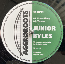 """JUNIOR BYLES - Press Along / Thanks and Praise (Aggroroots 12"""")"""