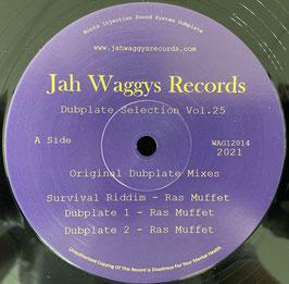 """RAS MUFFET - Survival Riddim (Jah Waggys 12"""")"""