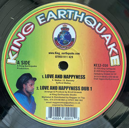 """SYLFORD WALKER - Love and Happyness (King Earthquake 12"""")"""