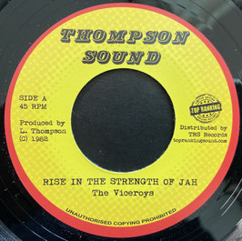 """THE VICEROYS - Rise In The Strength Of Jah (Thompson Sound 7"""")"""